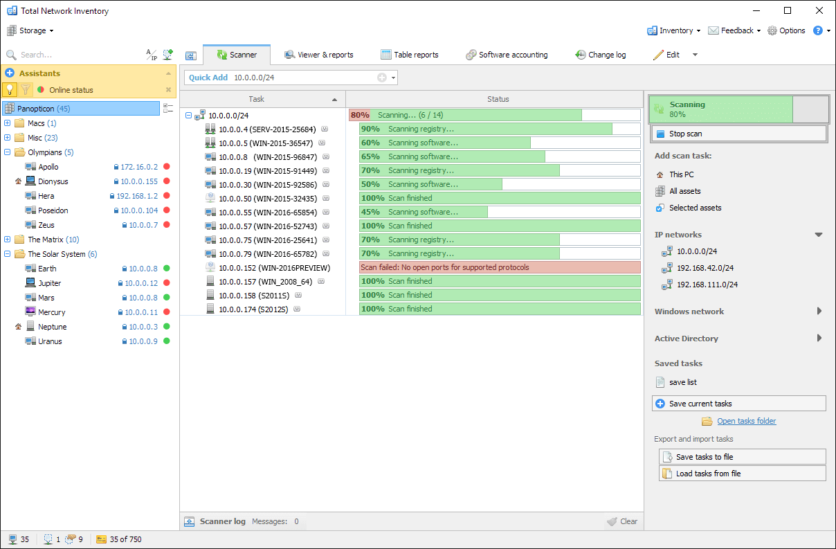 network inventory software auditing and inventory management tool